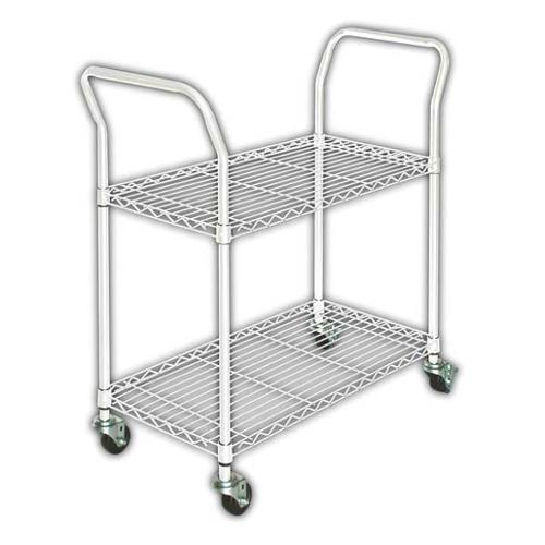 3TPD9 Wire Cart, 2 Shelf, L41 x W18 x H39 In.