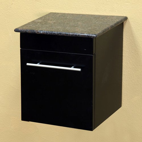 Solid Wood Wall Mount Style Side Cabinet - Black