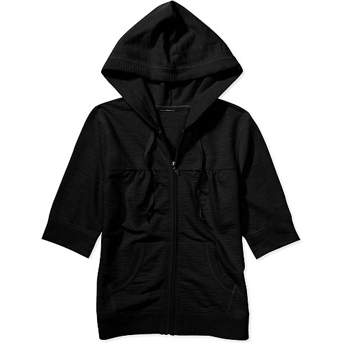 Faded Glory - Women's Short-Sleeve Zip Hoodie - Walmart.com