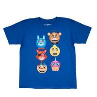 Five Nights at Freddy's Emoji Inspired Faces Royal Blue Cotton T-Shirt (Little Boys & Big Boys)