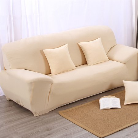 Marvelous Yosoo Elastic Anti Wrinkle Couch Covers Stretch Slipcover Solid Color Stylish Sofa Slipcover 1 4 Seat Soft Lightweight Slip Resistant Sofa Furniture Machost Co Dining Chair Design Ideas Machostcouk