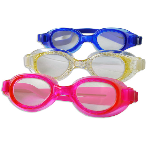 Youth Goggles, 3 Pack, Blue, Clear and Pink