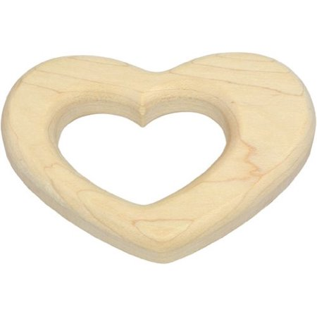 Natural Teething Ring - Heart Teether