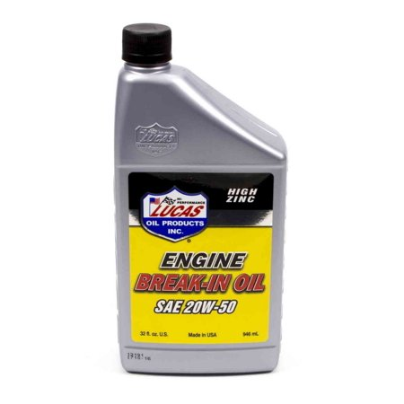 Lucas Oil Break In 20w50 Motor Oil 1 Qt P N 10635