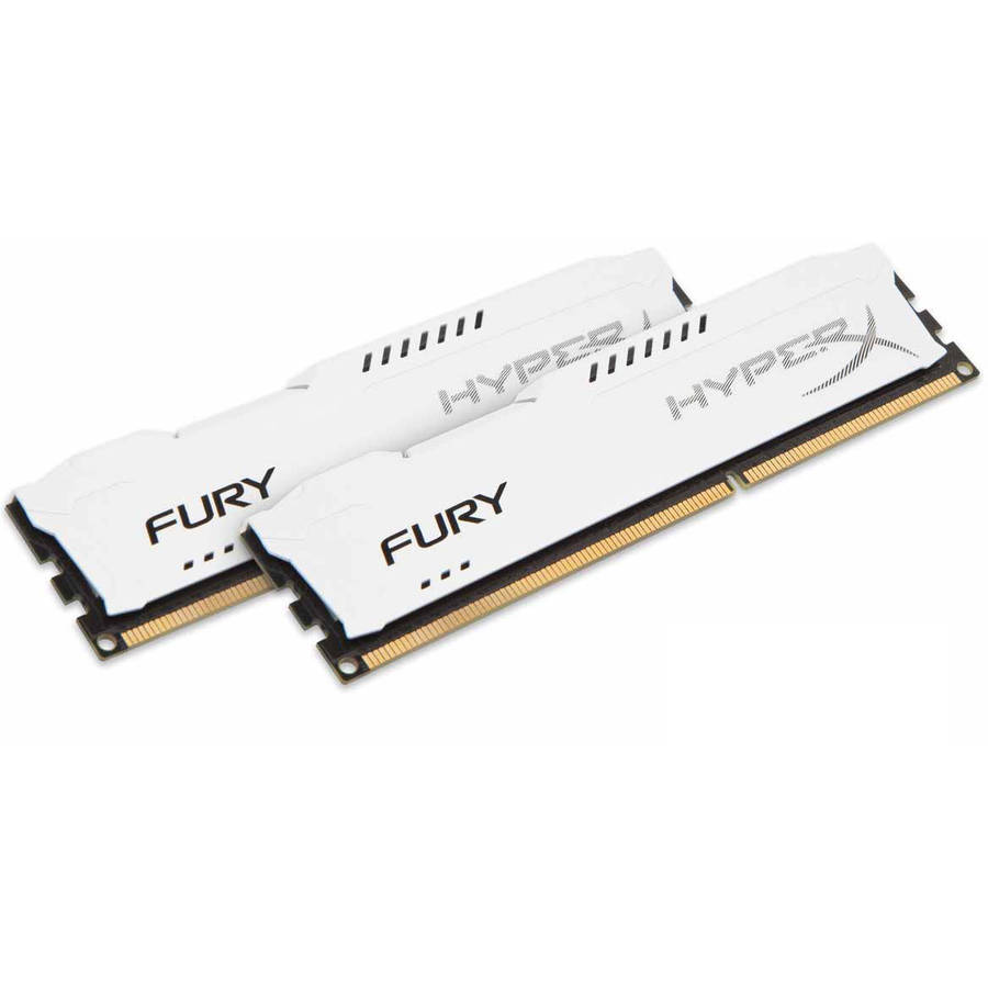 Kingston 8GB 1866MHz DDR3 Non-ECC CL10 DIMM (Kit of 2) HyperX FURY White Series Memory Module