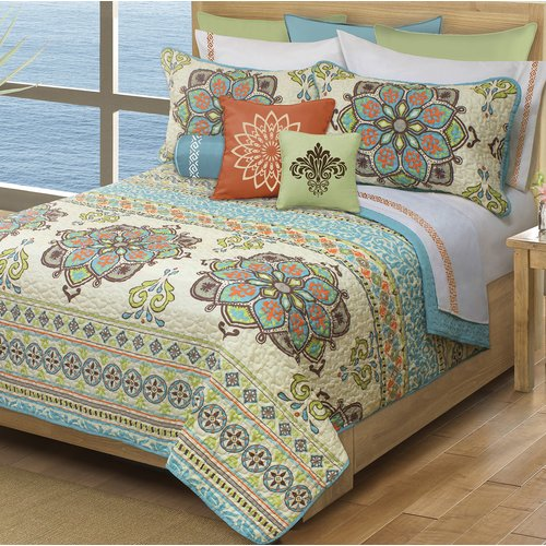 Bungalow Rose Pendergast Majorca Coverlet Set