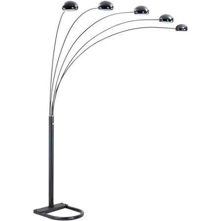 Ok Lighting Black 5 Arch Floor Lamp