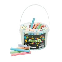 Fun Express - Colored Chalk - 100pc - Basic Supplies - Drawing - Chalk - 100 Pieces