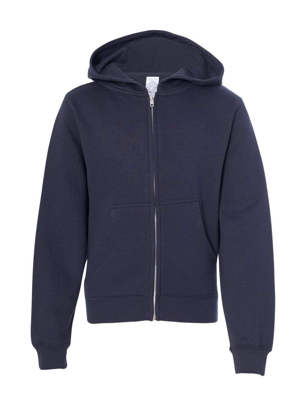 SS4001YZ Independent Trading Co. Fleece Youth Midweight Hooded Full-Zip Sweatshirt
