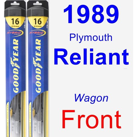 1989 Plymouth Reliant Coupe (1989 Plymouth Reliant Wiper Blade Set/Kit (Front) (2 Blades) -)
