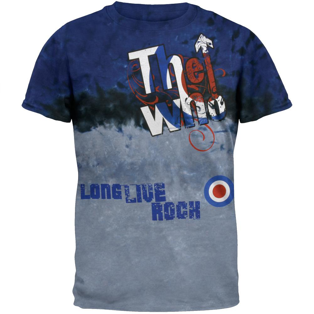 The Who - Be It Dead Or Alive Navy Tie Dye Adult T-Shirt