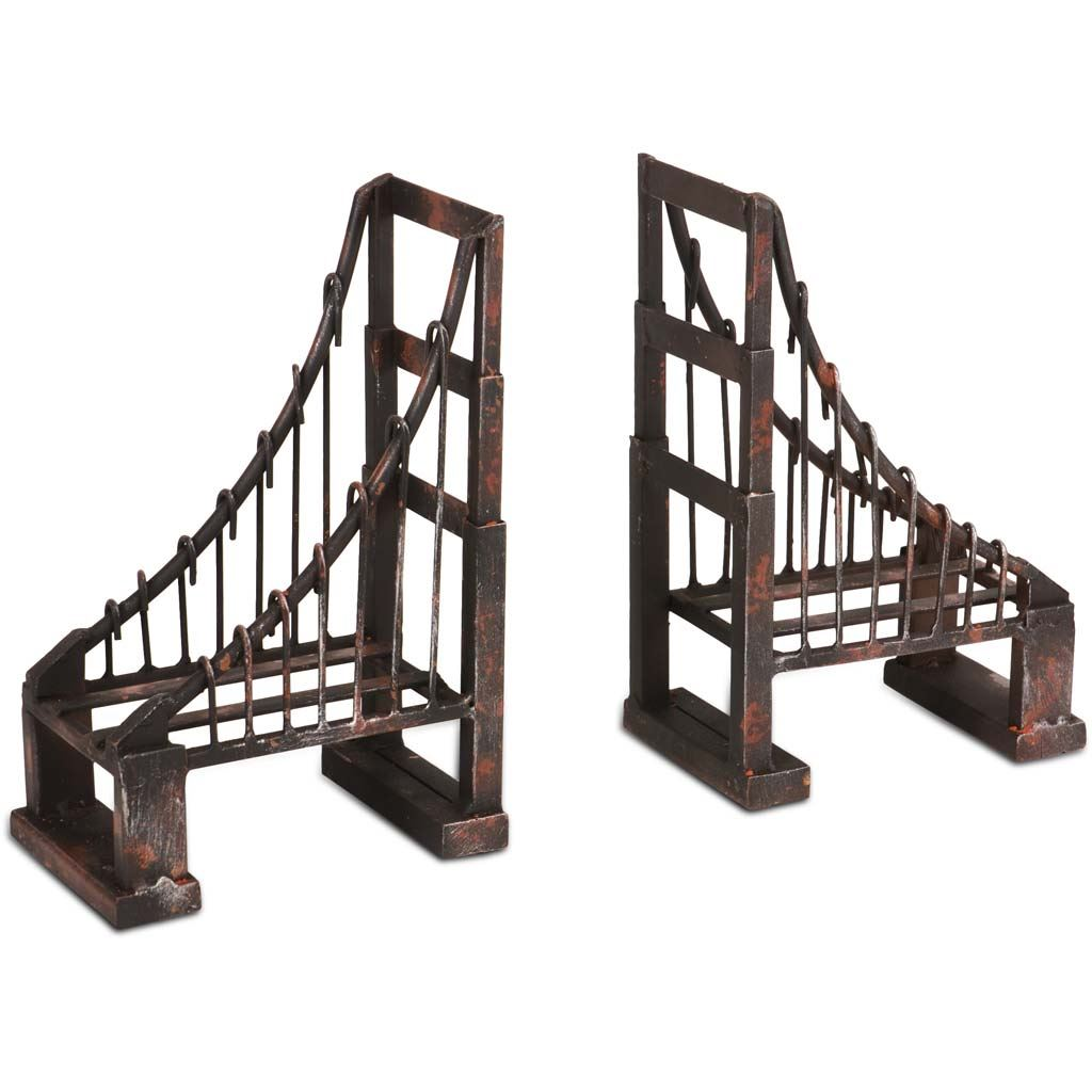 Mercana Industrial Set Of 2 Book End With Black Finish 57157