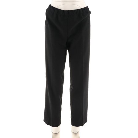 Susan Graver Stretch Crepe Comfort Pull-On Slim Leg Pants A271518