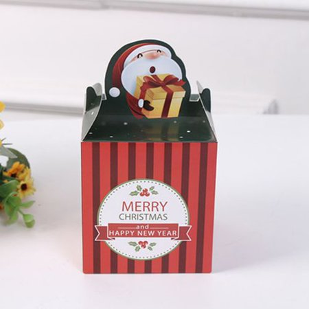 AkoaDa 5 Pcs Christmas Eve Apple Box Party Paper Favour Gift Sweets Bags ()