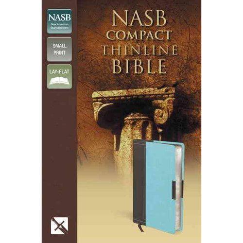 Holy Bible: New American Standard Bible, Chocolate / Turquoise, Italian Duo-Tone, Thinline