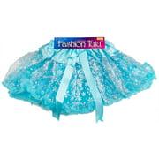 Star Power Women Princess Snowflake Tutu Skirt, Light Blue Silver, One-Size