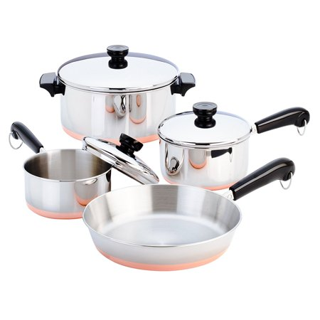 Revere 7 Piece Stainless Steel Copper Clad Bottom Cookware