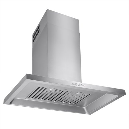 "Image of AKDY 30"" Euro Style Powerful Wall Stainless Steel Kitchen Range Hood Metal Fan Push Button Control Panel"