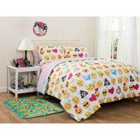 Emoji Pals Kids Rainbow Bed in a Bag Bedding Set, Multiple Colors