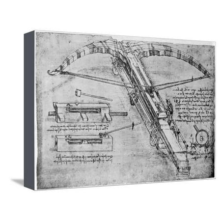Giant Crossbow, 1480-1485 Stretched Canvas Print Wall Art By Leonardo da Vinci ()
