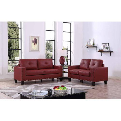 Latitude Run Payson 2 Piece Faux Leather Living Room Set