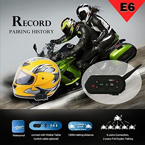 Ejeas E6 Bluetooth Intercom 2 Pcs BT Motorcycle Headset 1...