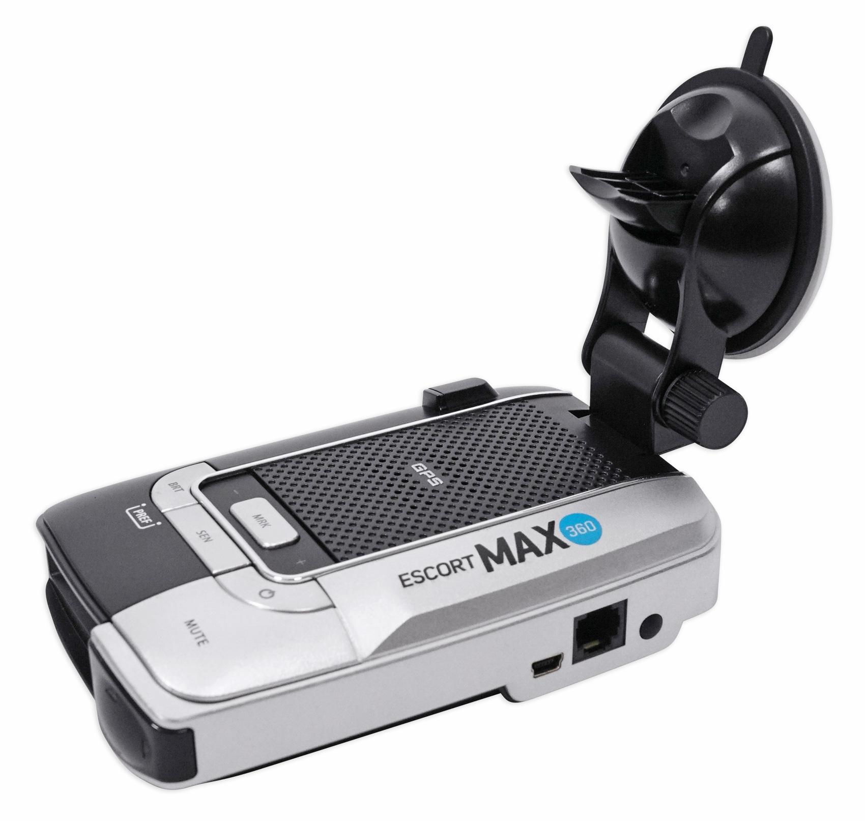ESCORT MAX 360 Radar Laser Police Cop Camera Detector+Bluetooth/GPS/USB Platinum