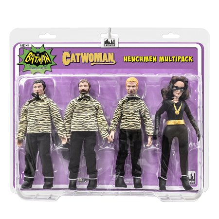 Batman Classic TV Series Action Figures: The Catwoman [Julie] and 3 Henchman Figures Four-Pack (Classic Catwoman)