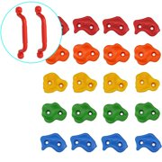 Juslike Climbing Holds Rock Wall Indoor/Outdoor Playground set for Kids Children Multi Color Assorted 20 PCS With Hardware Accessories and Installation Guide