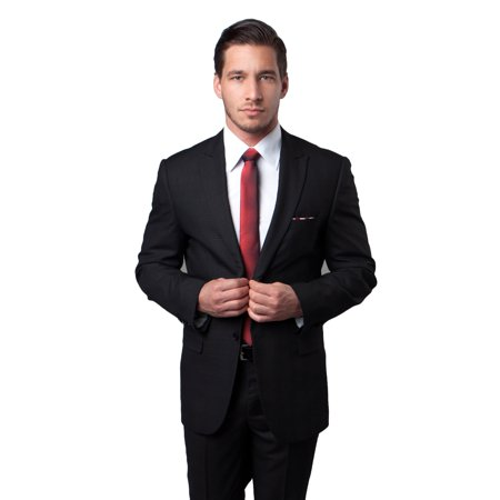 Mens Two Button Ultra Slim Fit Satin Collar Suit