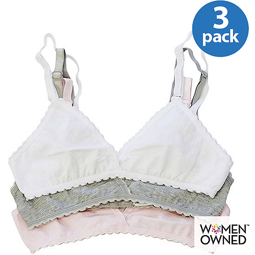 Fruit of the Loom - 3-Pack Girls' Assorted Bras