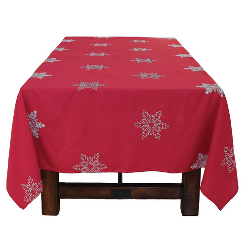 Xia Home Fashions Snowy Noel Embroidered Snowflake Christmas ...