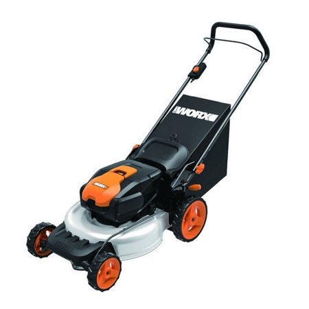 Worx Wg770 36V Cordless Ni Mh 19 In  2 In 1 Mower With Single Lever Depth Setting