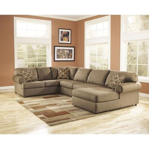 Ashley Furniture Cowan 3 Piece Sectional Sofa in Mocha  sc 1 st  Walmart : ashley furniture 3 piece sectional - Sectionals, Sofas & Couches