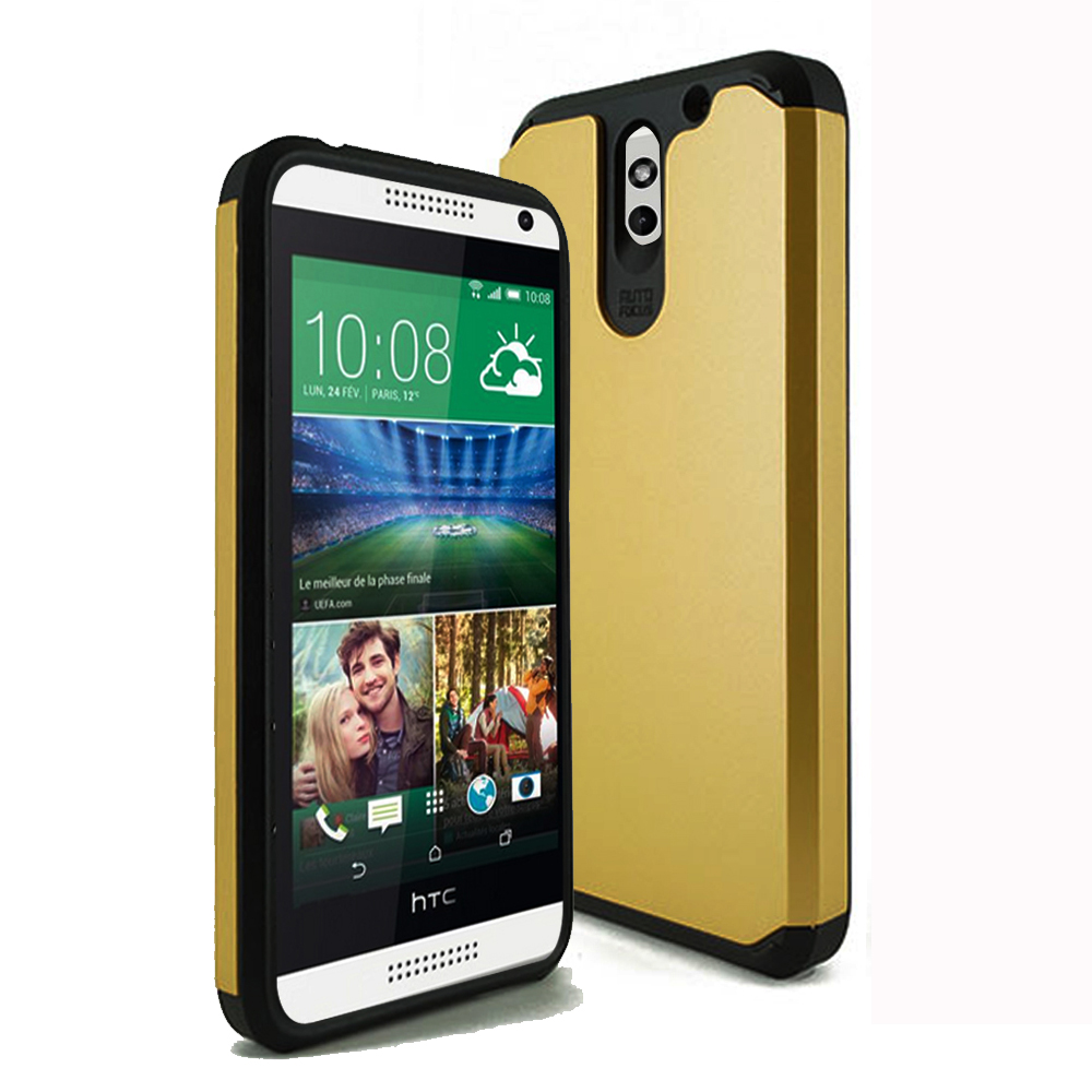 HTC Desire 610 TPU Slim Rugged Hard Case Cover Gold