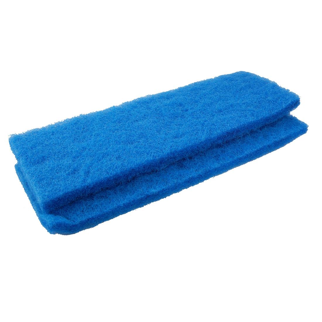 Unique Bargains 2pcs 12.6 Length Blue Biochemical Filter Sponge for Aquarium