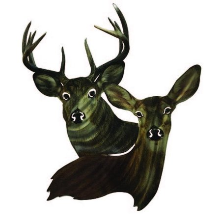 Metal Wall Decor Deer Heads - Walmart.com