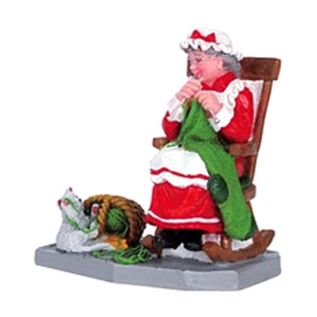 Christmas Village Stocking (Lemax 62210 MRS. CLAUS' BIG STOCKING Christmas Village Figurine Retired Figure G Scale )