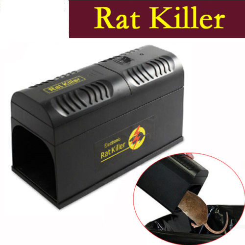 HURRISE Electronic Mouse Rat Killer,New Electric Mice Trap Killer Zapper Rodent Control