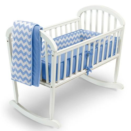 Baby Doll Bedding Chevron 3 Piece Cradle Bedding Set