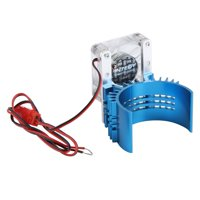 HERCHR Motor Heat Sink, 21000rmp 3V 1.5A RC Model Car Engine Motor Cooling Fan Heat Sink with Long Fan Base Blue, RC Motor Cooling Fan