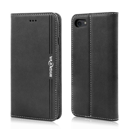 iPhone 7 iPhone 8 Wallet Case, Mignova Leather Luxury Case,Classic Folio Case Book Design with Stand and Card Slots Case, Magnetic Closure Case for Apple iPhone 7 iPhone 8(4.7 inch)