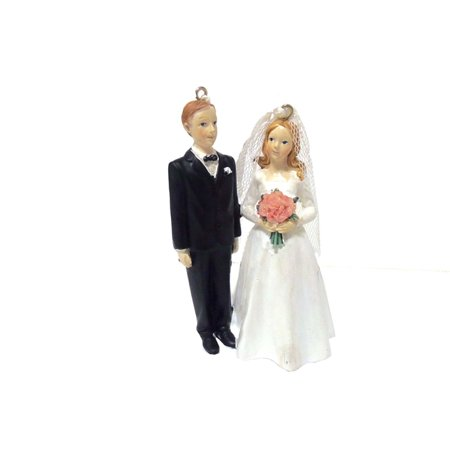 Bride and Groom Wedding Cake Topper Christmas Tree Ornament, Bride-Groom ()
