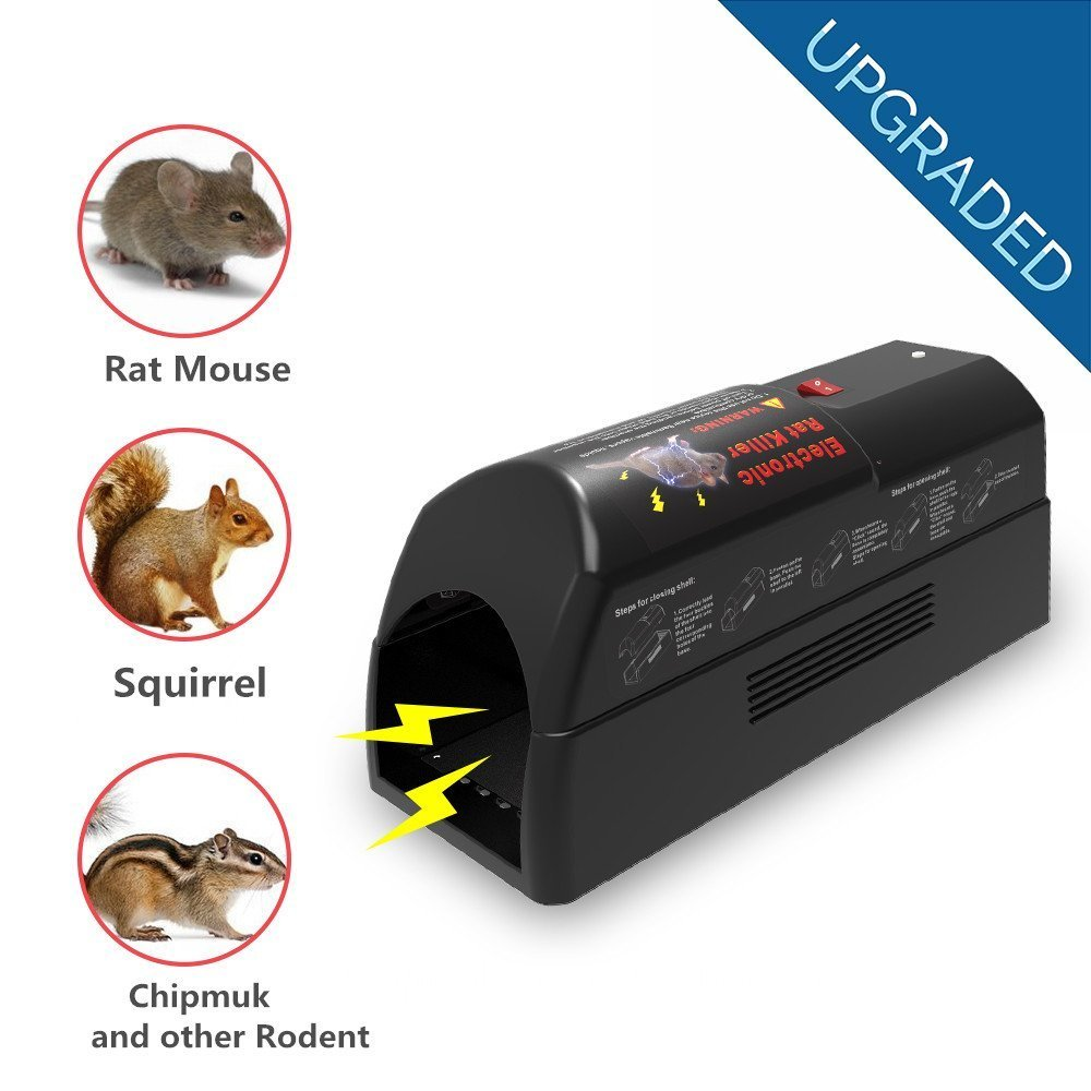 Aspectek Electronic Rat Trap Rodent Zapper Killer - Rodent, Mice and Squirrels Exterminator - Safe, Humane and Clean