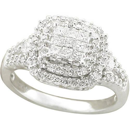 3/4 Carat T.W. Diamond Cushion Ring