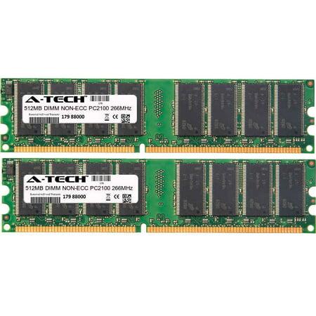 - 1GB Kit 2x 512MB Modules PC2100 266MHz NON-ECC DDR DIMM Desktop 184-pin Memory Ram