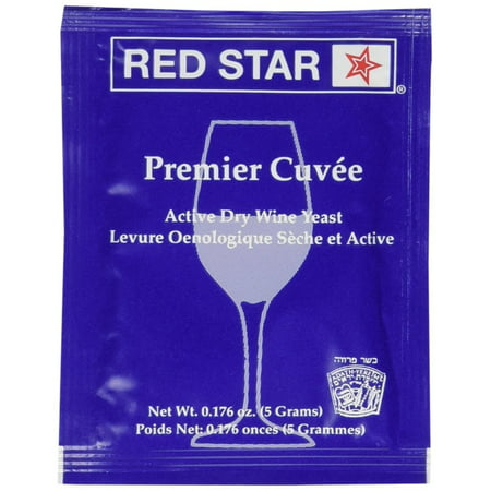 Red Star Premier Cuvee Wine Yeast, 5g - 10-Pack (Best Yeast For Blueberry Wine)