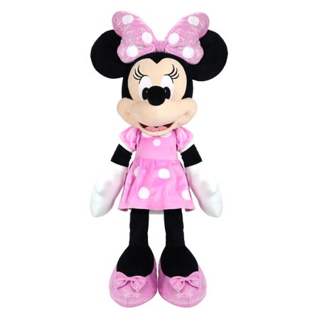Disney Junior Mickey Mouse Jumbo 25-Inch Plush Minnie Mouse, Ages 2+