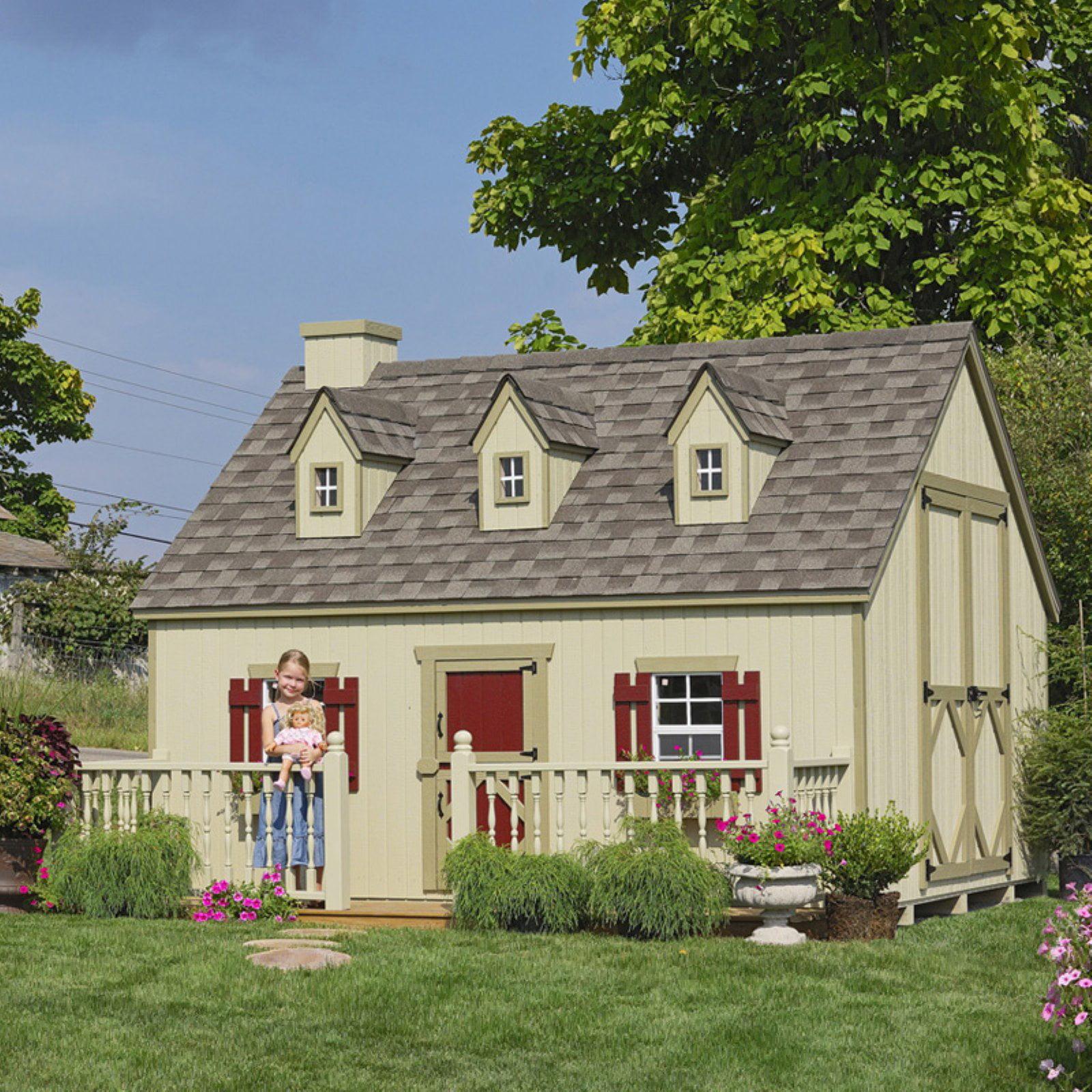 Little Cottage Cape Cod 8 x 10 ft. Wood Playhouse