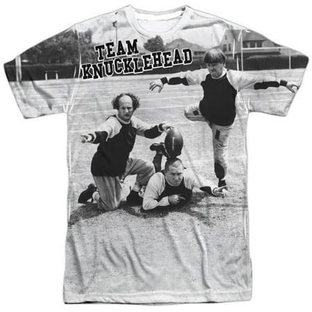 Three Stooges Slapstick Comedic Group Team Knucklehead Adult Front Print T-Shirt](Three Stooges Golf)
